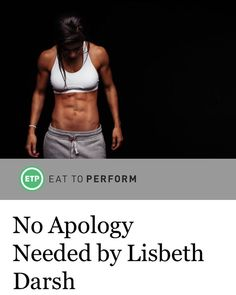 """Don't apologize for the weight on your bar or for muscles or for being strong. Never. You earn strength. Nobody gives you strength. You take it through lots of hard work. So don't feel weird that you have ""big legs"" or ""broad shoulders"" or a bodacious badonkadonk or that you're using a heavier weight than anyone else in your class. Just go right on with being your badass self. No apology needed. And besidesthe best people won't expect one."" From my latest piece for @eattoperform -- click…"