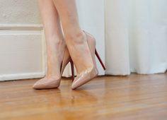 heels, nude heels, christian loubotin, nude, foot