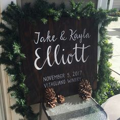 Rustic Wood Name Sign || Wedding Signs