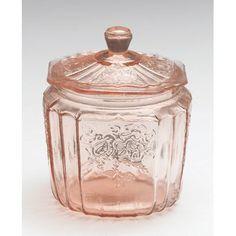 Charlton Home Glass Mayfair 2 qt. Storage Jar Color: Pink Charlton Home Glass Mayfair 2 qt. Antique Dishes, Antique Glassware, Vintage Dishes, Vintage Jars, Vintage Tableware, Vintage Dolls, Vintage Kitchen, Vintage Items, Color Magenta