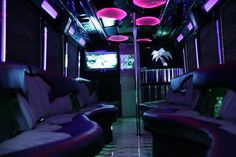 Now who wants to party in this luxurious purple limo?