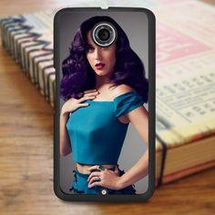 Katty Perry Purple Hair Nexus 6 Case