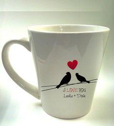 custom cup Personalized Love bird cofee mug