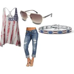 This is so cute! I would wear this for the summer and its also great to wear on 4th of July!
