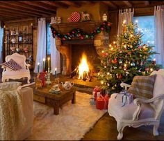 Love this Xmas Living Room !