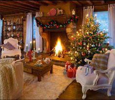 Love this Xmas Living Room !