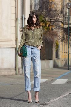Suno  Pijamas Shirt, Levis Jeans, Gianvito Rossi  Shoes, Gucci Soho Bag