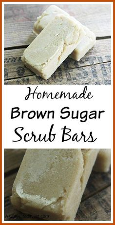Easy Homemade Brown Sugar Scrub Bars - body scrub in a solid form. Great for exfoliation and makes a wonderful gift! DIY Scrubs, DIY beauty, natural beauty products, DIY beauty recipes