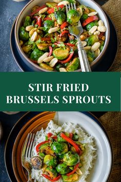 An Asian style Brussels Sprouts stir-fry with garlic and peppers. This recipe is made on the stove top and takes just 10 minutes. #herbivorecucina #brusselssprouts #stirfried #10minuterecipes #stirfries #vegetarian #vegandinner #asian #stirfrysauces Vegetarian Stir Fry Sauce, Best Vegetarian Recipes, Delicious Vegan Recipes, My Recipes, Favorite Recipes, New Flavour, Brussels Sprouts, Vegan Dinners, International Recipes