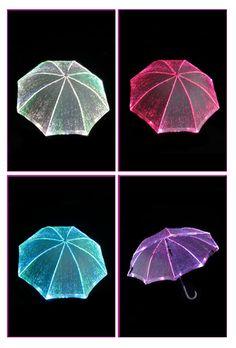 light up umbrella - because fiber optics is fun