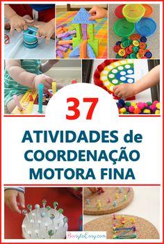 Atividades para desenvolver a coordenação motora fina dos seus filhos