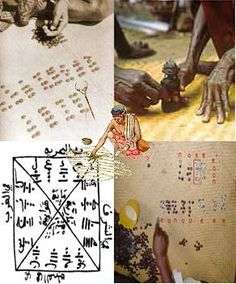 Madagascar The mpanandro is consulted at every important event (wedding, funeral, or famadihana the exhumation, laying of the foundation stone of a building, etc ..) The mpisikidy is a specialist in geomancy, divination technique from figures drawn on the sand. The ombiasa has more powers: the Guardian ritual and religious knowledge.