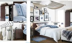 Great idea for a teen boy's room from the Ikea 2014 catalog.