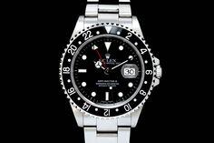 Rolex GMT-Master II mit Box & Papieren aus 2003  Oyster-Band, Schwarzes Zifferblatt, Schwarze Lünette  Referenz: 16710 | Y-Serie | Ø 40 mm  http://www.juwelier-leopold.de/uhren/rolex/gmt_master_2.html
