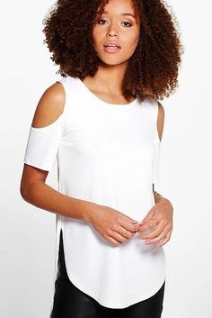 4aaadcd000c6a 15 Shopping Sites You ll Wish You Had Known About Sooner White Cold  Shoulder Top
