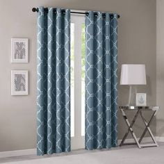 2-21-16. Dave put up curtain rods and new curtains in living room. Similar to this design.