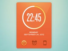 Aquamarine & Orange are the most underused great GUI colors.    This has both!