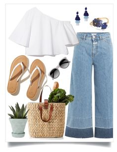 """""""Weekend"""" by cinnamonbelle ❤ liked on Polyvore featuring Closed, Oscar de la Renta, Banana Republic, Ace, Chive and Hollister Co."""