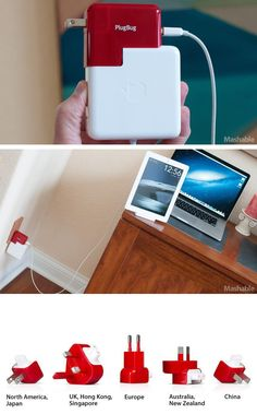 The ultimate charger for travelers. Charge your laptop AND iPad/Phone at once! ultim charger, geek stuff, onc, laptops, ipadphon, gadget, travel accessories, appl stuff, iphon stuff