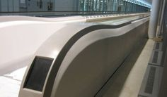 Escalator Cladding made of Corian by DuPont at the Airport Toronto