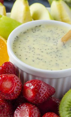 Poppy Seeds Fruit Salad Dressing