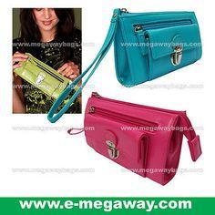 Blue Mini Fashion Purse Wallet Handbag Ladies Cosmetic Amenity Pouch MegawayBags