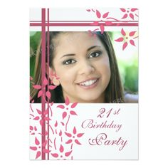 Photo 21st Birthday Party Invitations