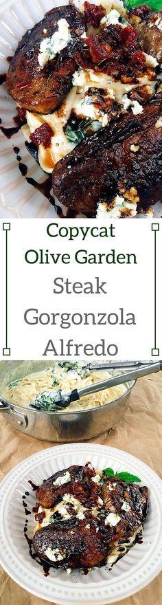 Copycat Olive Garden Steak Gorgonzola Alfredo   Three Olives Branch
