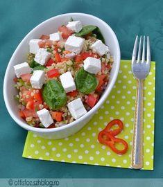 Bulgursaláta Lunch Recipes, Salad Recipes, Healthy Recipes, Greek Recipes, Light Recipes, Health Eating, No Cook Meals, Street Food, Meal Prep