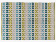 JEFFS GREENS Cotton Medium green flat weave cotton rug 140 x 200cm - HabitatUK