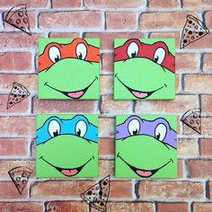 TMNT Teenage Mutant Ninja Turtles Mini Canvas Painting by GrecnyArt on Etsy https://www.etsy.com/listing/227960354/tmnt-teenage-mutant-ninja-turtles-mini