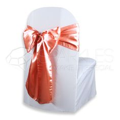 """10 pcs Satin Chair Cover Bow Sash 108""""x8"""" - Coral - Wedding Party Banquet xi #SparklesMakeitSpecialSatinChairBow"""