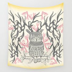 Bohemian wall tapestries, owl tapestry, hippie tapestry, owl decor, wall tapestry, wall hanging  • 100% lightweight polyester with hand-sewn finished