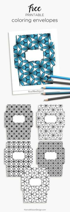 Coloring envelopes - send some colorful Happy mail with these envelopes that you or your kids can color. Download and print for free.