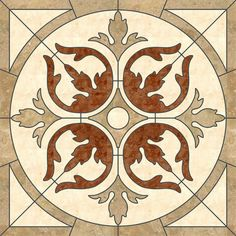 Stone marble mixed Water Jet Medallion and tiles