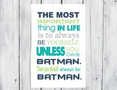 Batman Print Super Hero Print - Superhero Room Decor on Etsy, $20.00