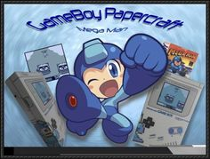 Game Boy Nintendo Papercraft - Mega Man Free Paper Toy Download - http://www.papercraftsquare.com/game-boy-nintendo-papercraft-mega-man-free-paper-toy-download.html