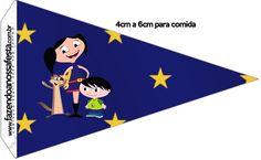 Bandeirinha Sanduiche 2 Show da Luna Azul e Vermelho
