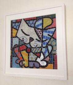 Mosaico feito por Patricia Silveira (gato Romero Britto)
