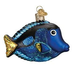 Pacific Blue Tang Fish Old World Christmas Glass Nautical Ornament Nwt 12504 Fish Ornaments, Ornament Hooks, Glass Ornaments, Old World Christmas Ornaments, Christmas Gift Box, Christmas Tree, Nautical Christmas, Tropical Christmas, All Things Christmas