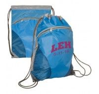 Every teen needs a string bag for sports, sleepovers, or just carrying around their stuff. This string bag is the best with its cinch top and zippered front and personalized with your bat mitzvah artwork!