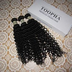 Quality virgin hair >> Indian curly hair weaves. Double machine wefted, 100% unprocessed, Natural color. Our hair can be dyed, permed and straightened in any way.  Approx 3.5 oz per bundle. Pretty soft · Shedding & Tangle free · Long lasting.  Manufacturer to customers directly, you will save up to 50-70%. Shop now >>> http://toopha.com/3-bundles-tight-curly-premium-indian-virgin-remy-hair-weaves-unprocessed-pure-hair.html