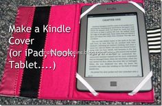 Seriously ive already made this and with fabric corners! Selling this now on Nu Spool fb page. Or this is a tutorial for a Kindle cover!  (or iPad, Nook, Tablet, etc...)