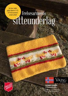 Frelsesarmeens sitteunderlag, Påskekylling Felting, Norway, Vikings, Threading, The Vikings, Felt Fabric, Viking Warrior