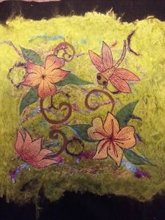 free style machine embroidery on felt.