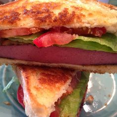 Toby Keith's favorite fried bolgona sandwich. Get more of Krystal's recipe here>> http://blog.gactv.com/blog/category/krystal-keith-in-the-kitchen/