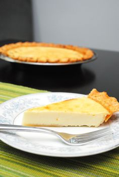 Custard Pie - wish I could make a deep dish stand up tall one- but it is an egg custard and they are slippery and slim!