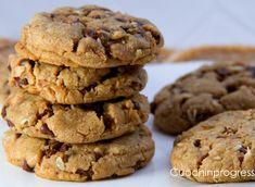 Cookies burro di arachidi noci e cioccolato