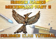 DIY mockingjay for the Hunger games Mockingjay part 2 movie polymer clay...