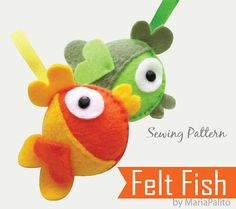 DIY Felt Fish  PDF Sewing Pattern Felt Fish by Mariapalito on Etsy,